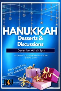 Desserts and discusisons chanukah