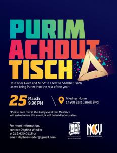 purim and Bnei akiva